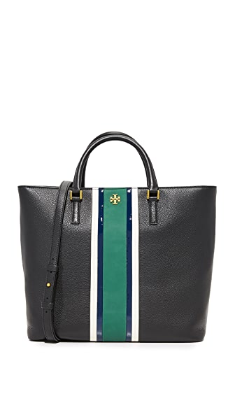 Tory Burch Georgia Stripe Zip Tote