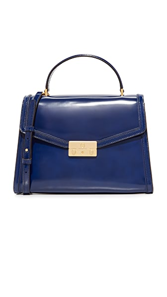 Tory Burch Juliette Top Handle Satchel - Royal Navy