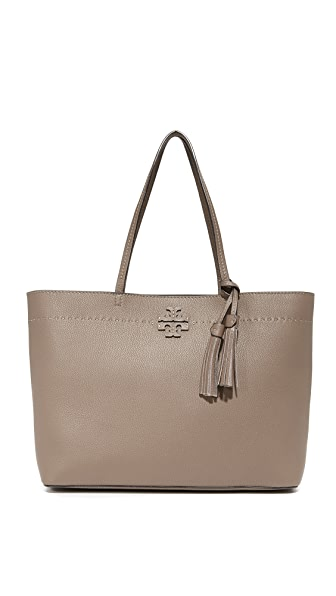 Tory Burch McGraw Tote - Silver Maple
