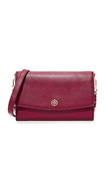 Tory Burch Parker Chain Wallet - Imperial Garnet