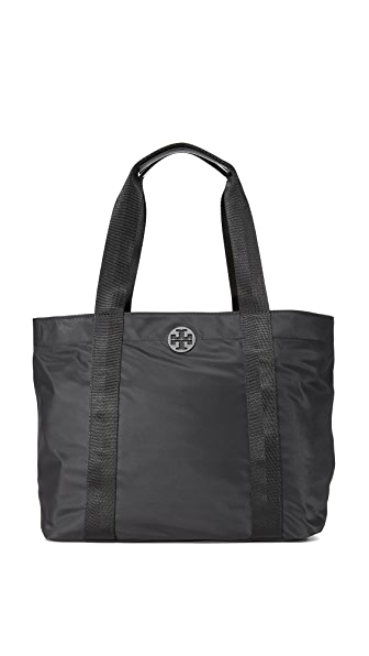 Tory Burch Quinn Large Zip Tote - Black