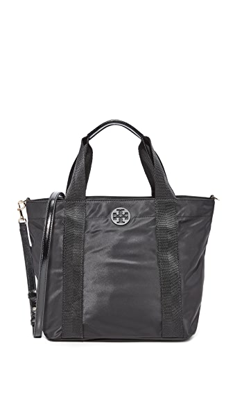 Tory Burch Quinn Small Zip Tote - Black