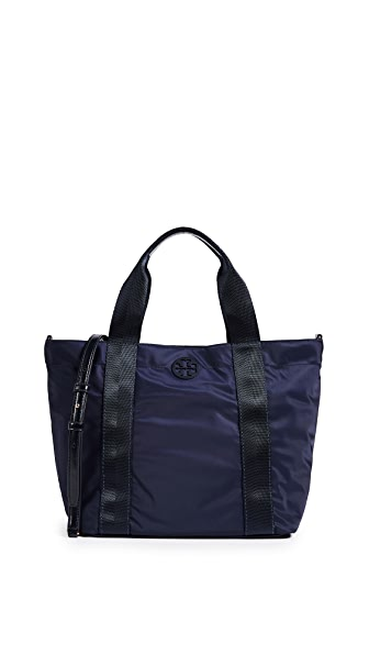 Tory Burch Quinn Small Zip Tote In Tory Navy