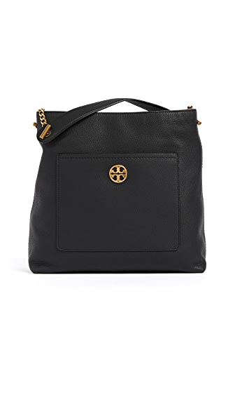 Tory Burch Chelsea Chain Hobo In Black