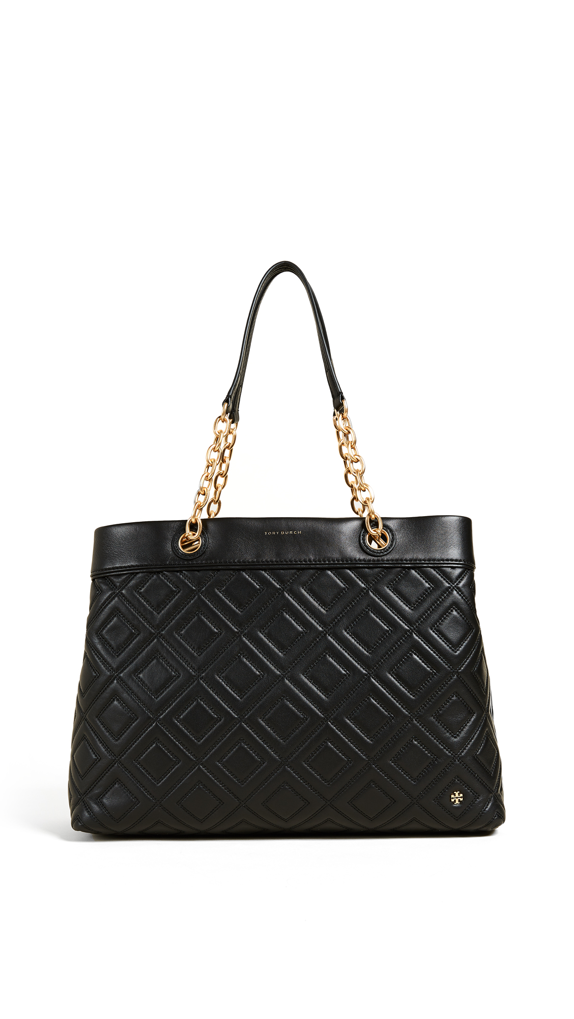 Tory Burch Fleming Triple Compartment Tote - Black
