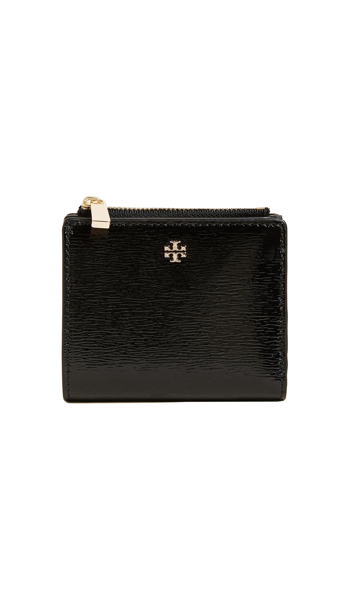 Tory Burch Robinson Patent Mini Wallet - Black