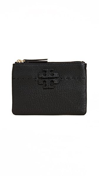 Tory Burch Mcgraw Card Pouch In Black