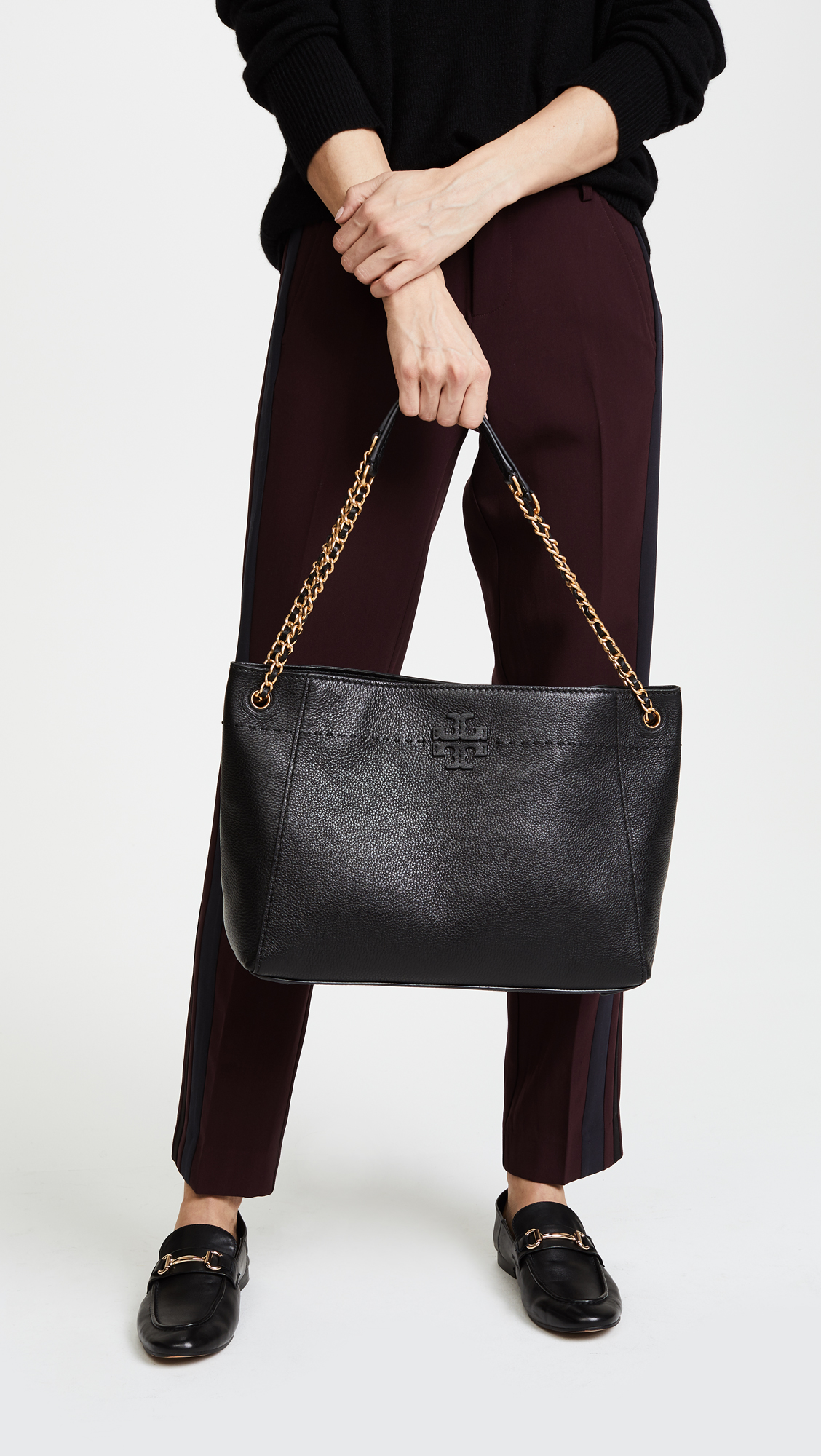 b8b1821bcab Tory Burch Mcgraw Chain Shoulder Slouchy Tote