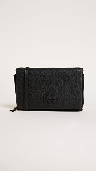 Tory Burch Mcgraw Flat Wallet Cross Body Bag