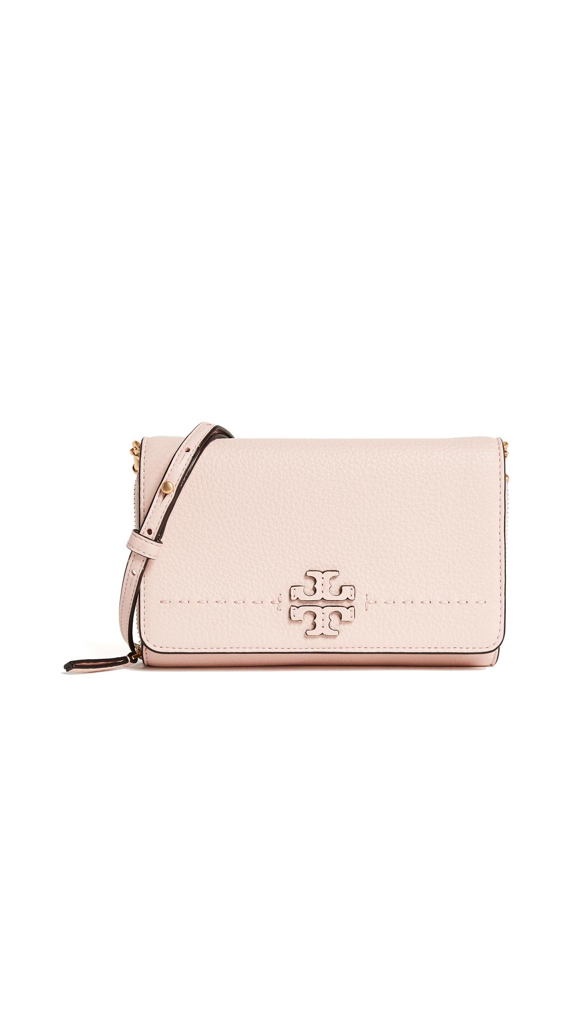 Tory Burch Mcgraw Flat Wallet Cross Body Bag - Pink Quartz