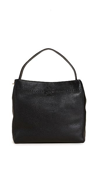 Tory Burch Mcgraw Hobo Bag In Black