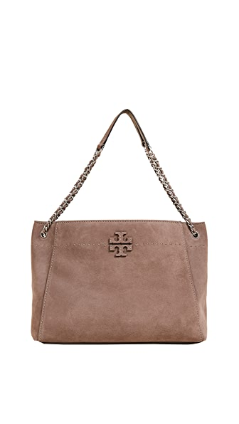 MCGRAW SUEDE CHAIN SHOULDER SLOUCHY TOTE