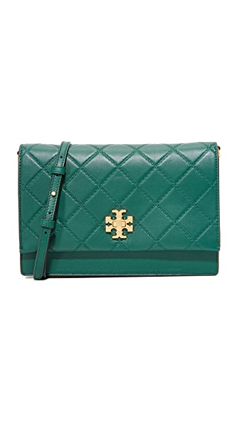 Tory Burch Georgia Convertible Cross Body Bag - Malachite