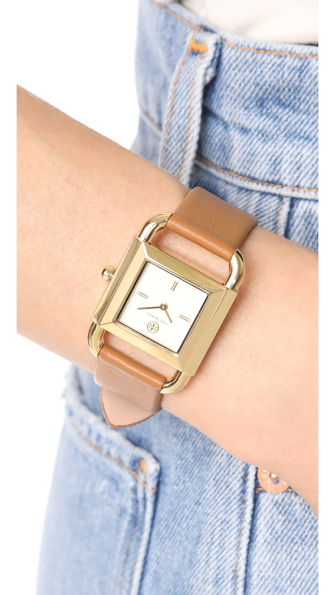 353ff4f90900 Tory Burch The Phipps Leather Watch