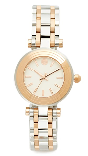 Tory Burch The Classic T Watch - Silver/Rose Gold/Ivory