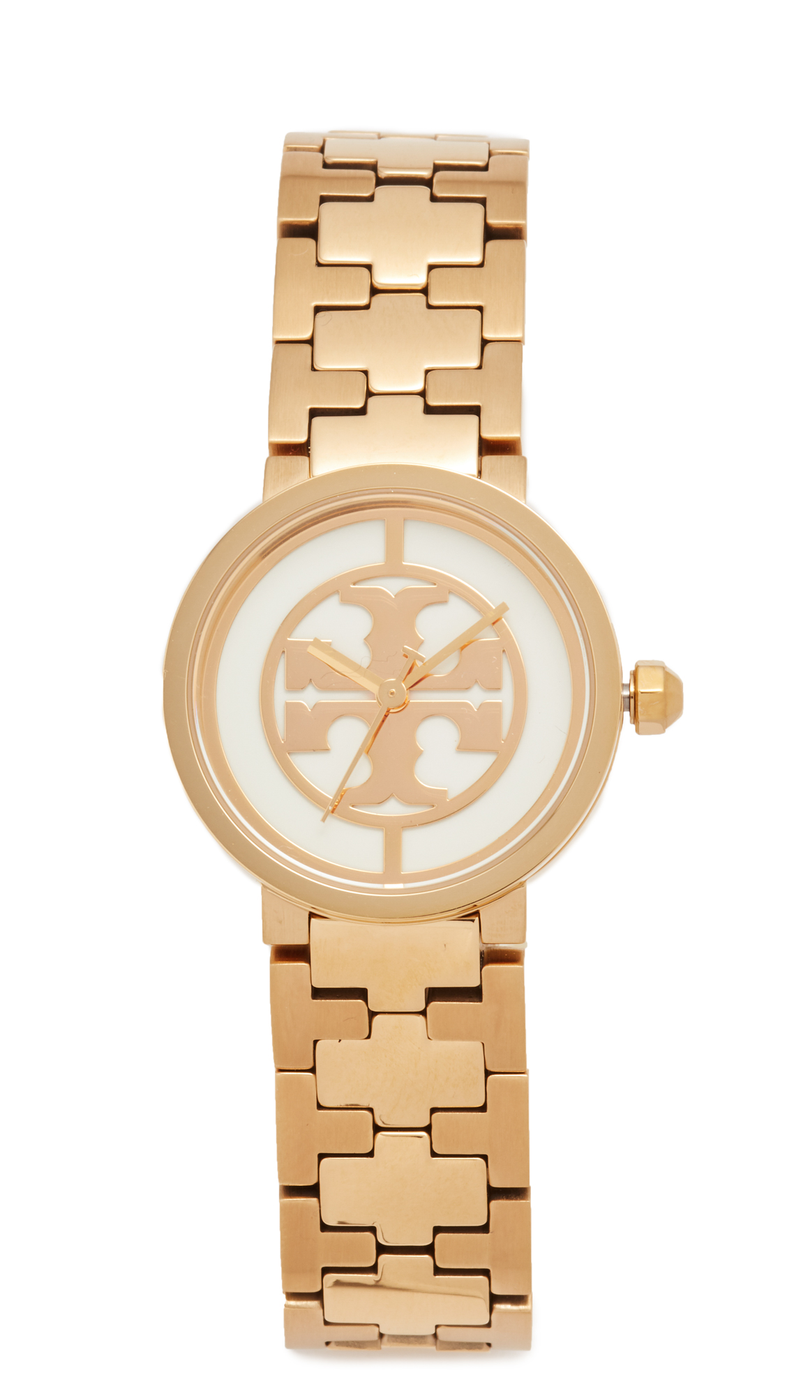 Tory Burch The Small Reva Watch - Gold/Ivory