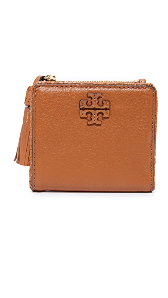 Tory Burch Taylor Mini Wallet - Saddle