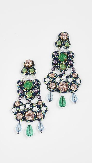 Tory Burch Beaded Chandelier Earrings   SHOPBOP