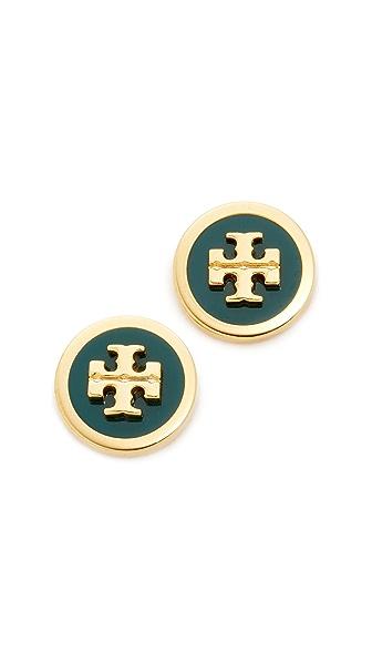 Tory Burch Raised Logo Stud Earrings