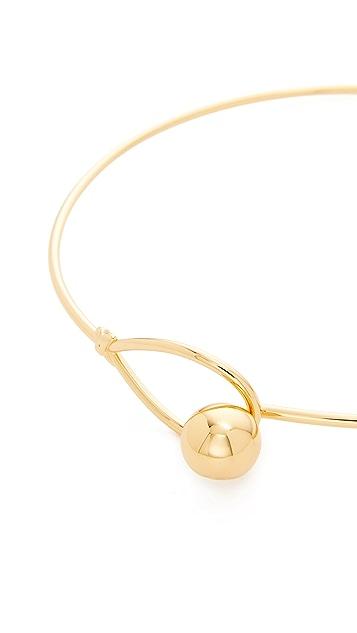 Tory Burch Logo Loop Collar Necklace