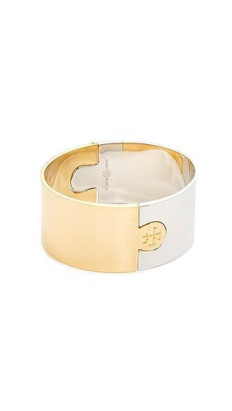 Tory Burch Wide Puzzle Cuff Bracelet