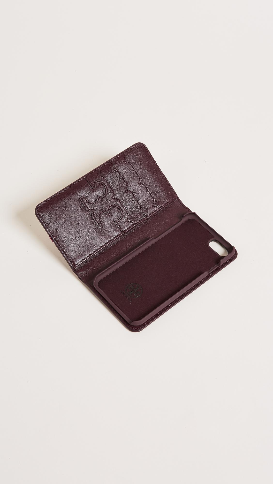 detailed look 1e43f c106a Tory Burch Parker Croc Folio iPhone 7 / 8 Case | SHOPBOP