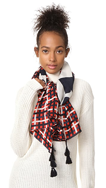 Tory Burch Princess Plaid Scarf