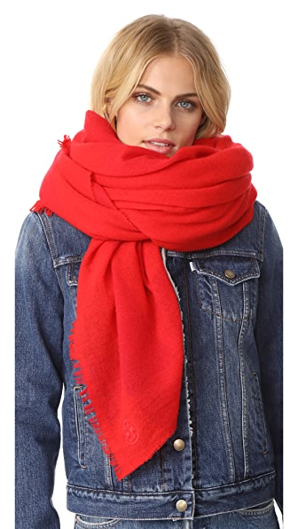 Tory Burch Solid Cashmere Scarf