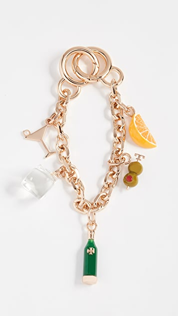 Tory Burch Martini Chain Key Chain
