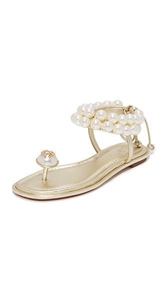 Tory Burch Melody Ankle Strap Sandals - Gold