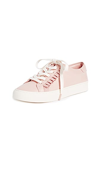 Tory Burch Tory Sport Ruffle Sneakers In Pink/White