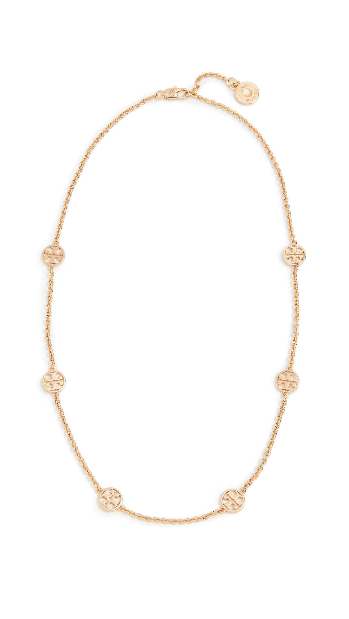 Tory Burch Delicate Logo Necklace - Tory Gold