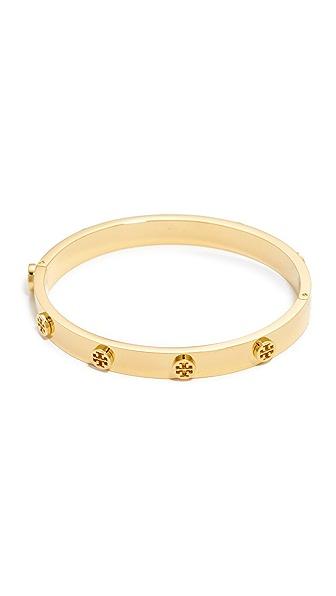 Tory Burch Logo Stud Hinge Bracelet - Tory Gold