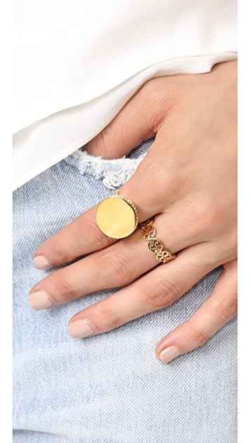 Tory Burch Frozen Logo Ring