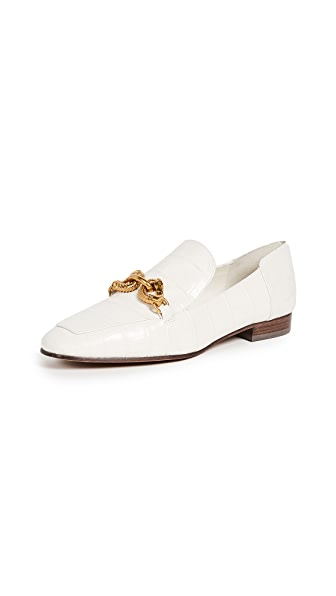 Tory Burch Jessa Horse Hardware Loafers In Ivory
