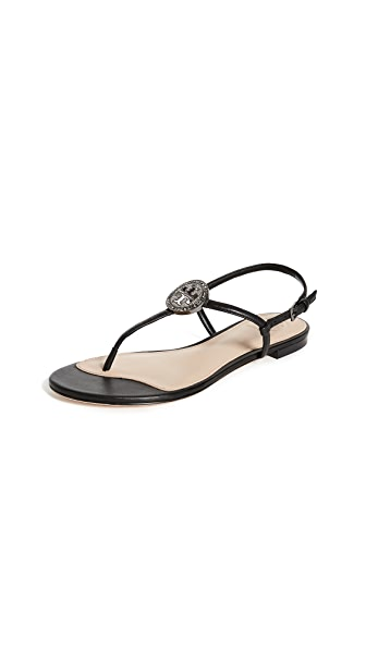 Tory Burch Liana Flat Sandals In Black