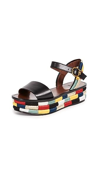Tory Burch Camilla 40mm Platform Sandals In Black