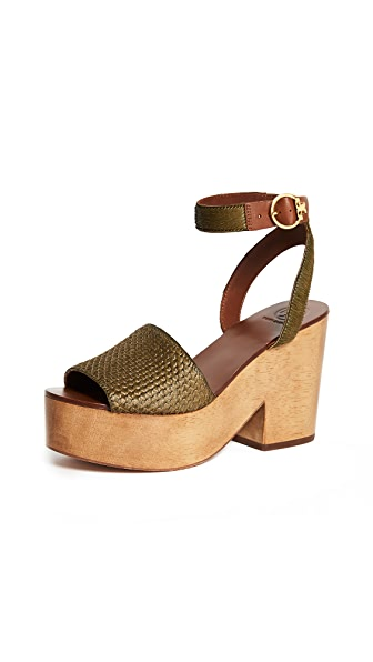 69750aa52f33 Tory Burch Camilla 100Mm Sandals In Olivo