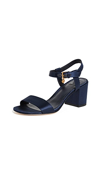 Tory Burch Laurel 65mm Ankle Strap Sandals In Royal Navy