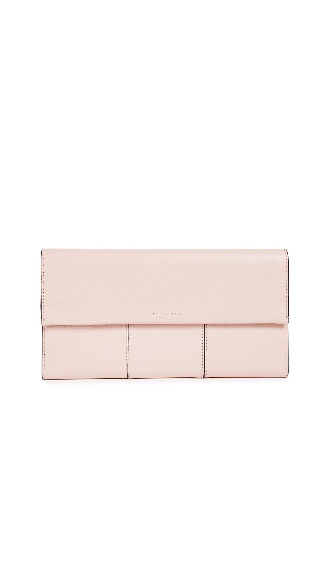 Tory Burch Block T Travel Clutch - Shell Pink