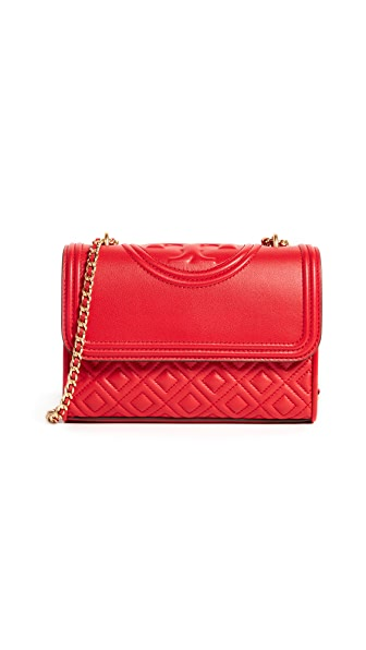 Tory Burch Fleming Small Convertible Shoulder Bag In Exotic Red