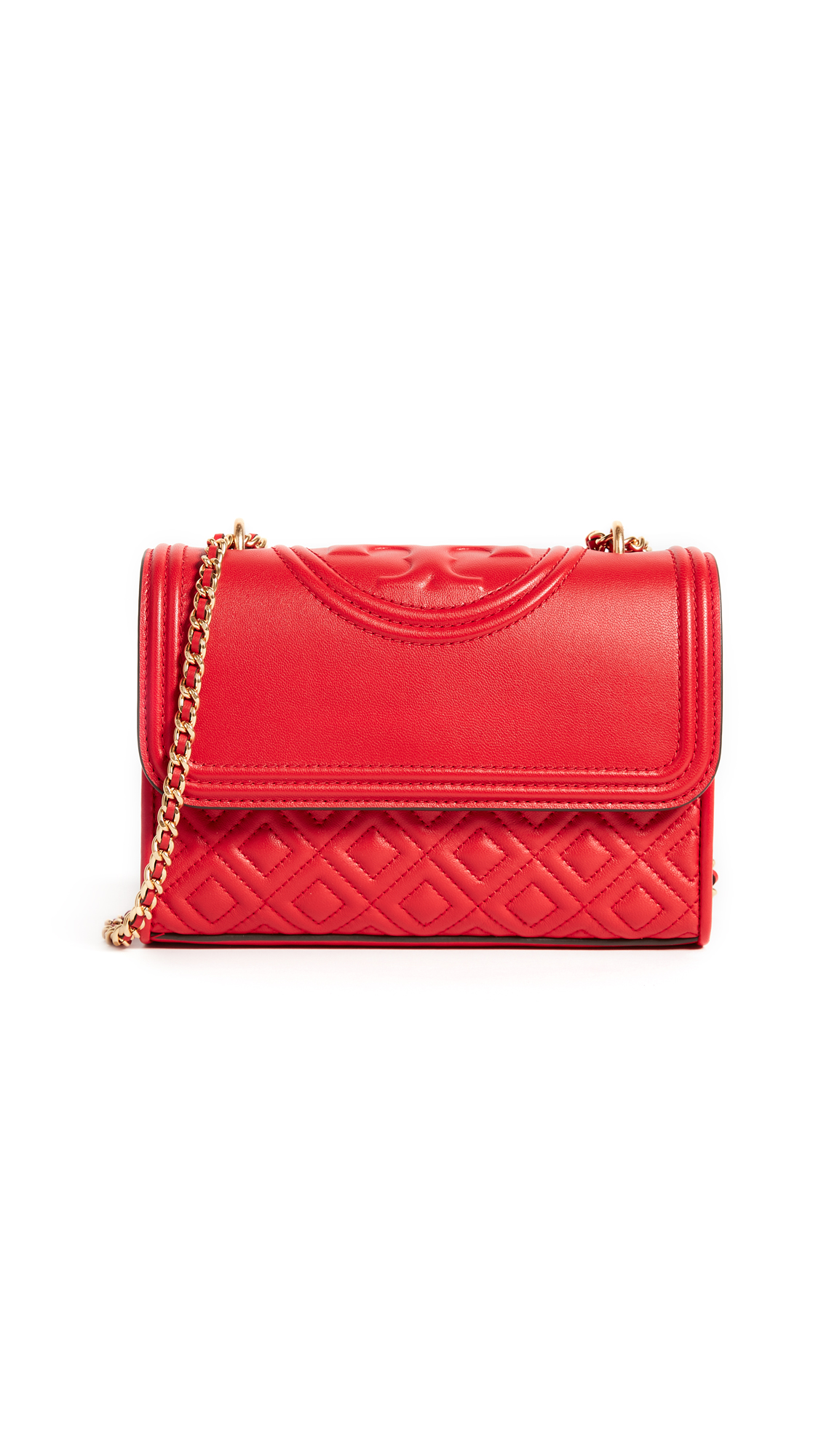 Tory Burch Fleming Small Convertible Shoulder Bag - Exotic Red