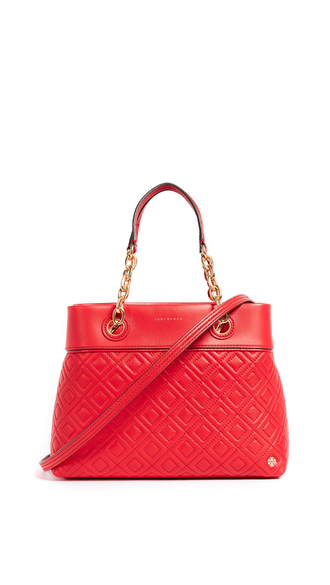 Tory Burch Fleming Small Tote - Exotic Red