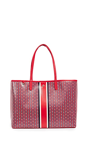 Tory Burch Gemini Link Tote In Exotic Red