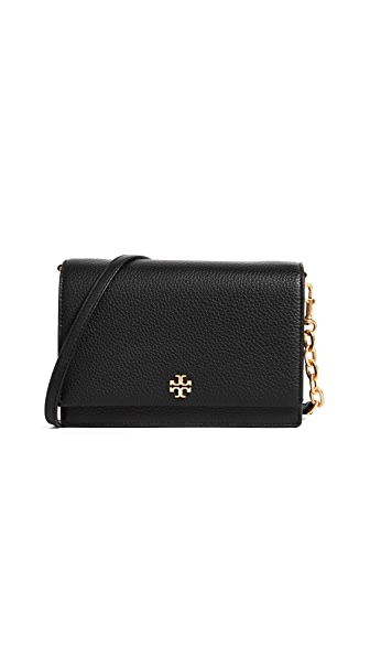 Georgia Pebble Leather Shoulder Bag - Black