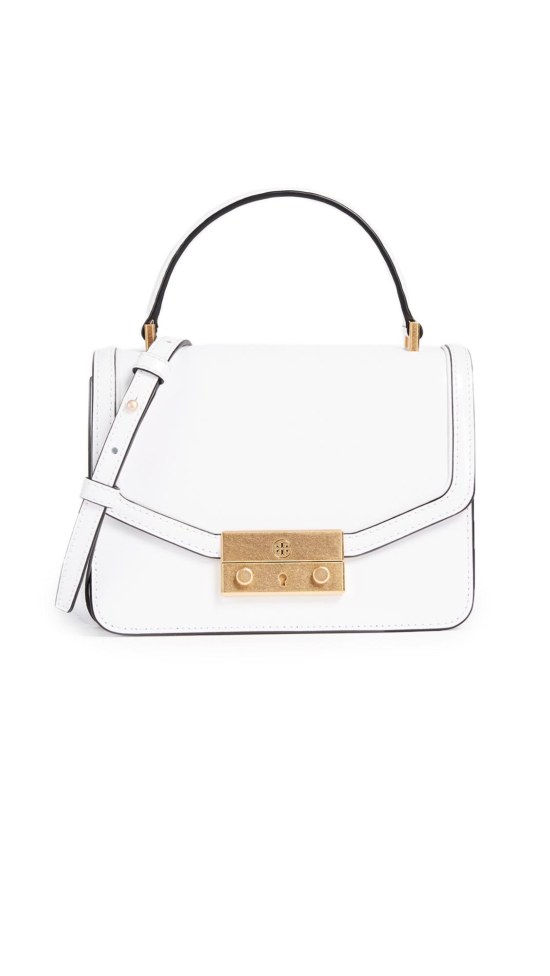 Tory Burch Juliette Mini Top Handle Cross Body Bag - White