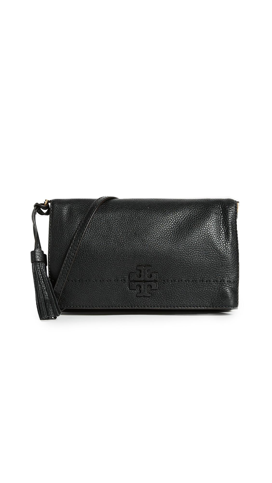 Tory Burch McGraw Fold Over Cross Body Bag - Black