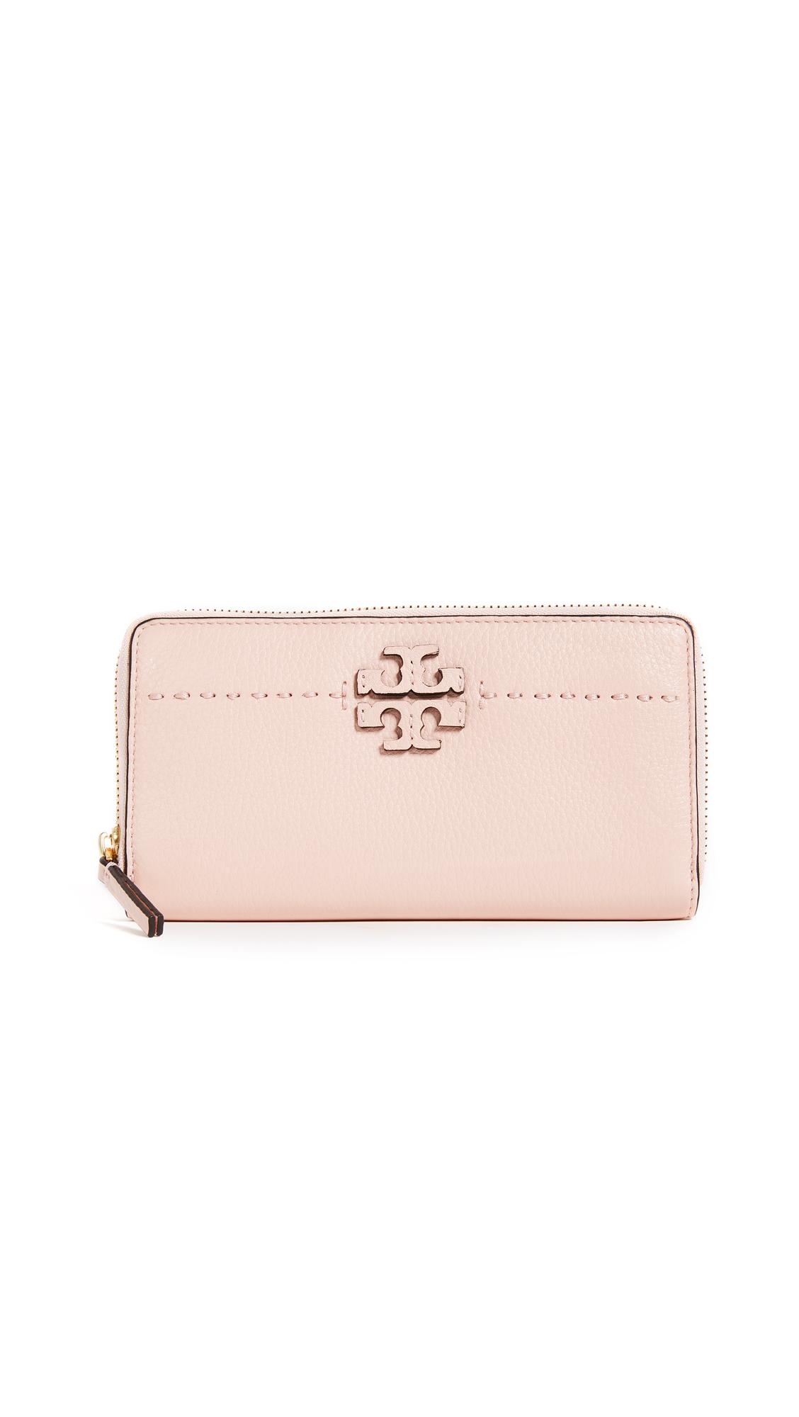 Tory Burch McGraw Zip Continental Wallet - Pink Quartz