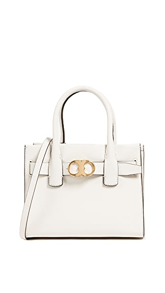 Tory Burch Gemini Link Mini Cross Body Tote In New Ivory
