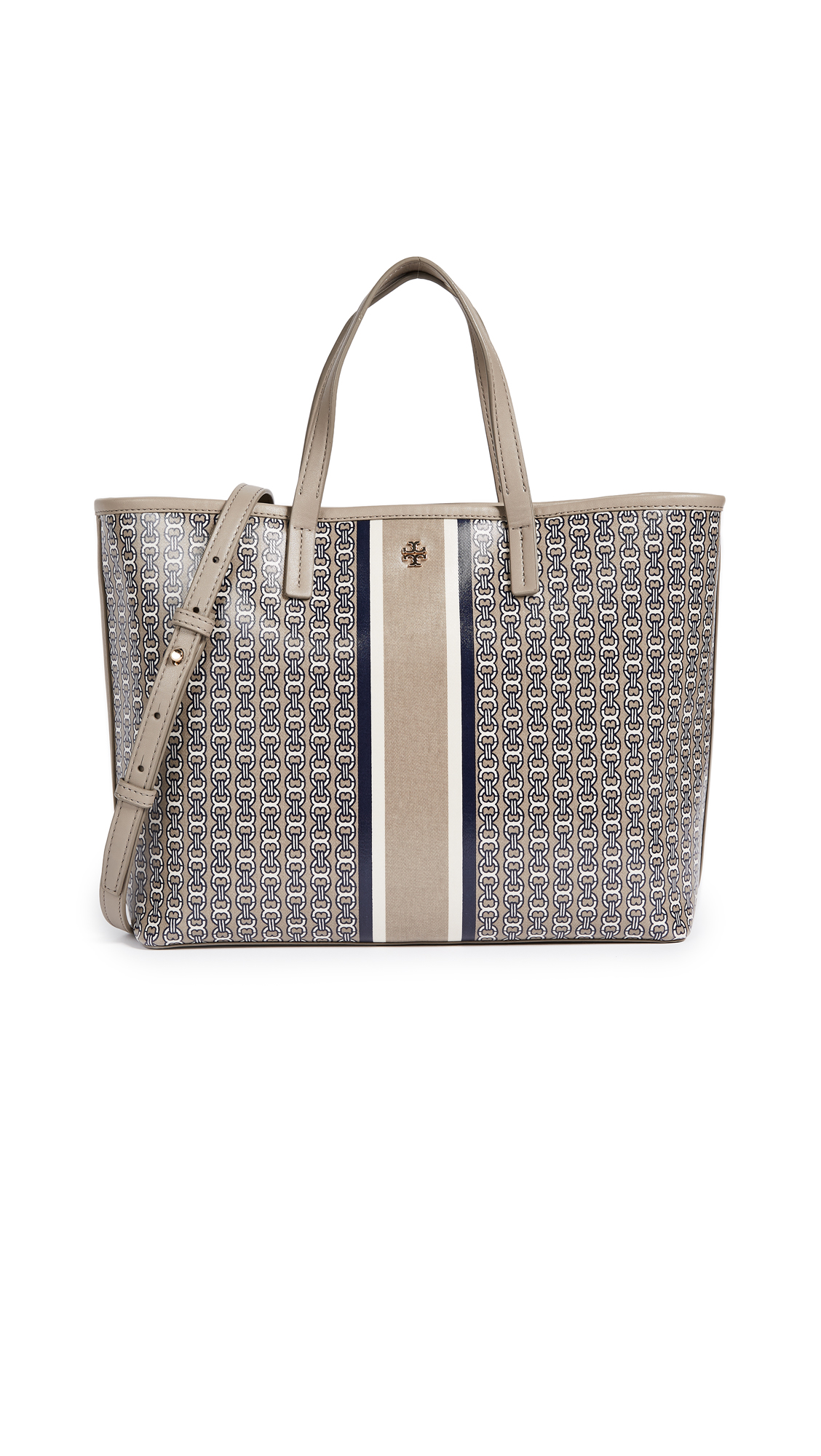 Tory Burch Gemini Link Small Tote - French Grey